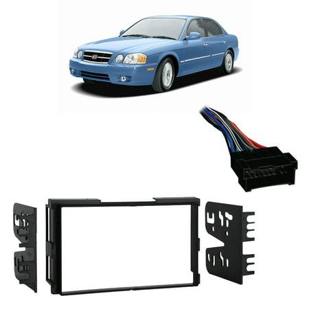 Fits Kia Optima 2001-2006 5 Double DIN Stereo Harness Radio Install Dash Kit