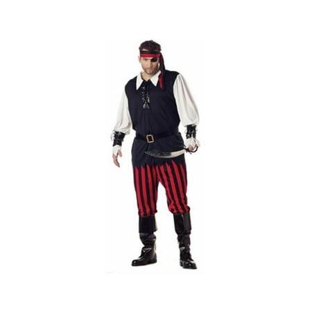 Adult Plus Size Cutthroat Pirate Costume