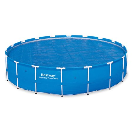 Bestway 18 Foot Round Above Ground Swimming Pool Solar Heat Cover   (Best Way To Call Usa From Mexico)