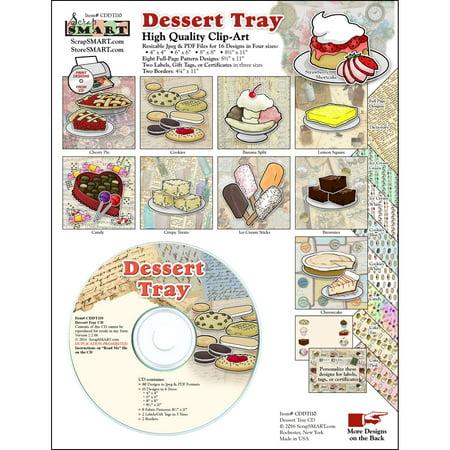 ScrapSMART Dessert Tray Clip-Art CD-ROM, Colorful Illustrations for Scrapbook, Craft, Sewing