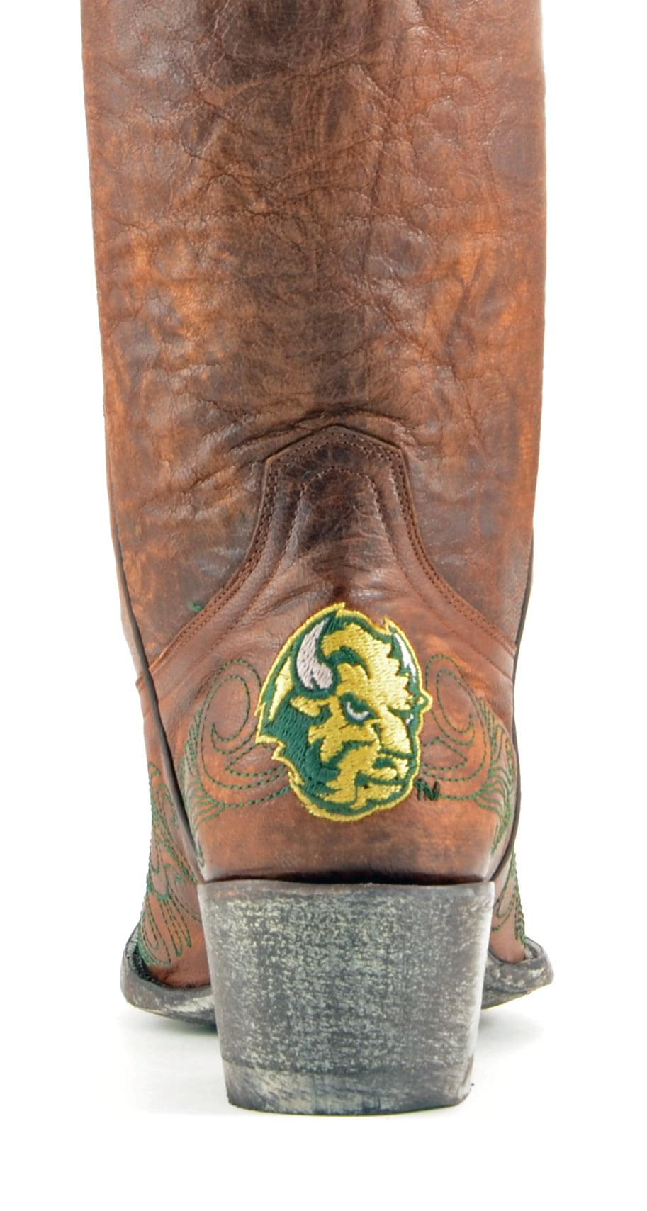 """Gameday Womens 13"""" Leather N Dakota State Cowboy Boots NDA-L243"""
