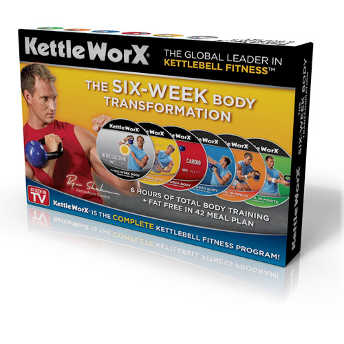 KettleWorx 6 Week Body Transformation DVD Set