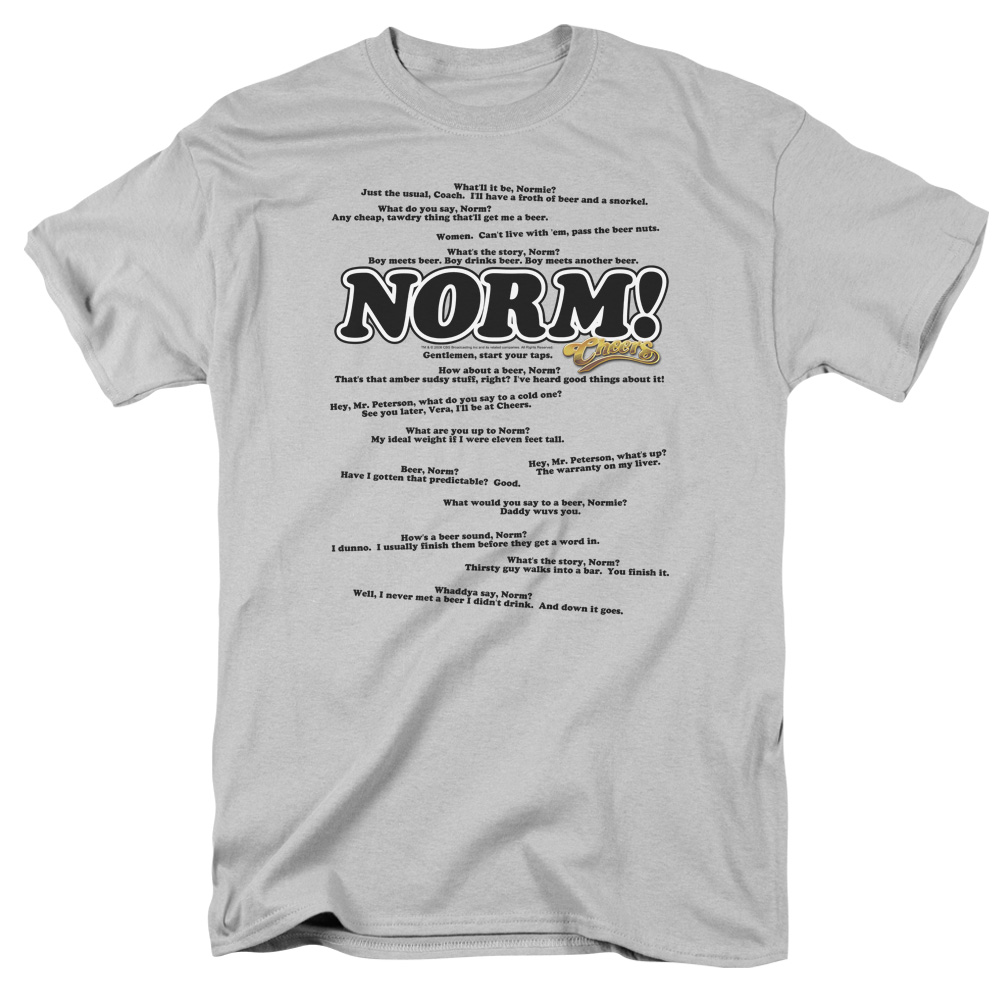 CHEERS/NORMISMS - S/S ADULT 18/1 - SILVER - 2X