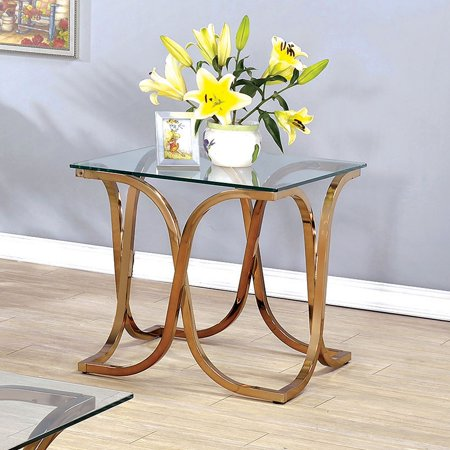 Furniture of America Karis Curved Leg Base End Table