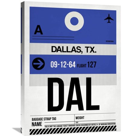Naxart Studio \'DAL Dallas Luggage Tag 1\' Stretched Canvas Wall Art ...