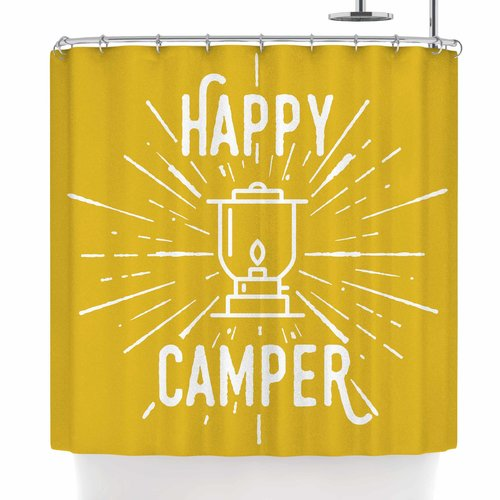 East Urban Home Jackie Rose Happy Camper Shower Curtain