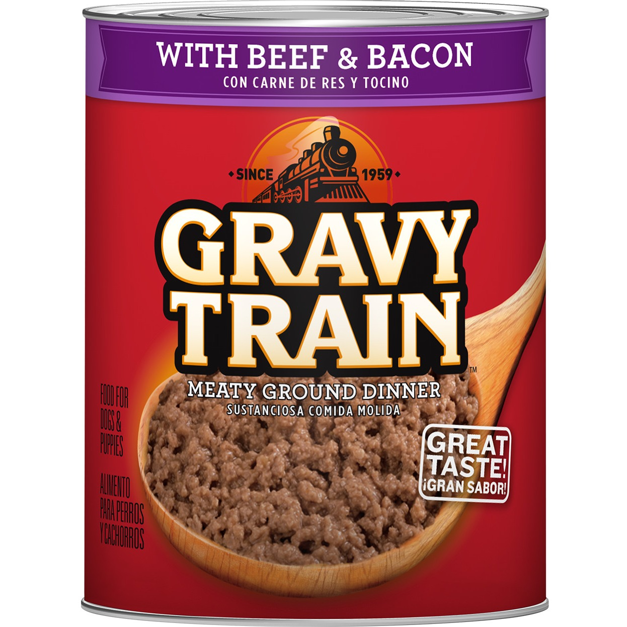 Gravy Train Meaty Ground Dinner With Beef & Bacon