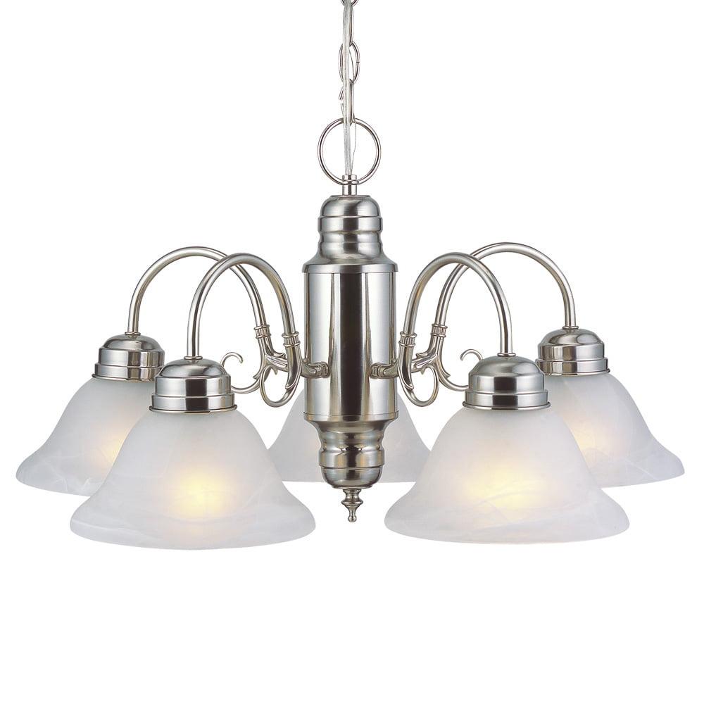 Design House 511535 Millbridge 5-Light Chandelier, Satin Nickel