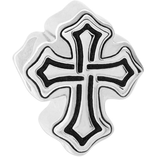 Connections from Hallmark Stainless Steel Gothic Cross Charm