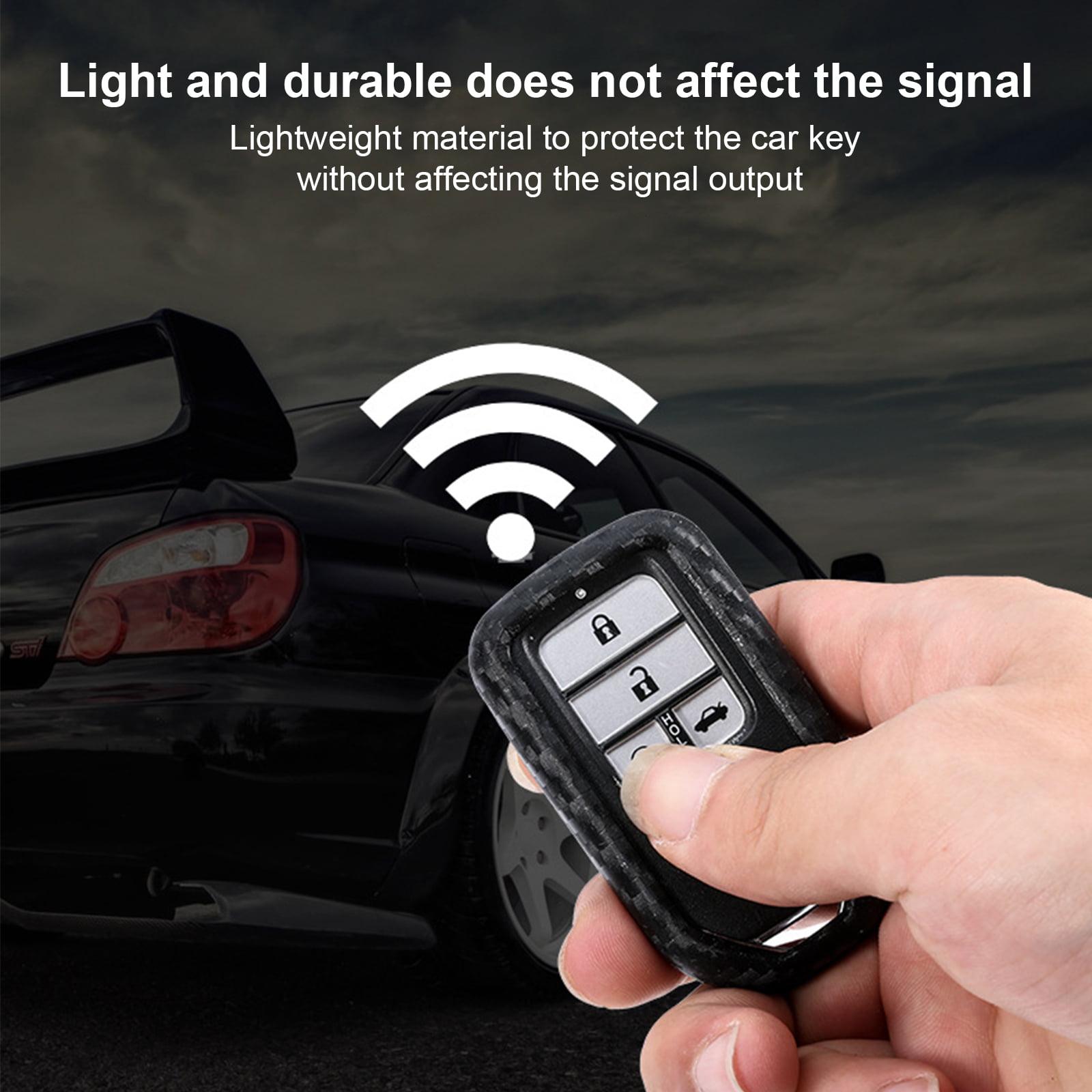 Car Carbon Fiber Key Fob Case Cover Accessories For Honda Accord CR-V HR-V Civic