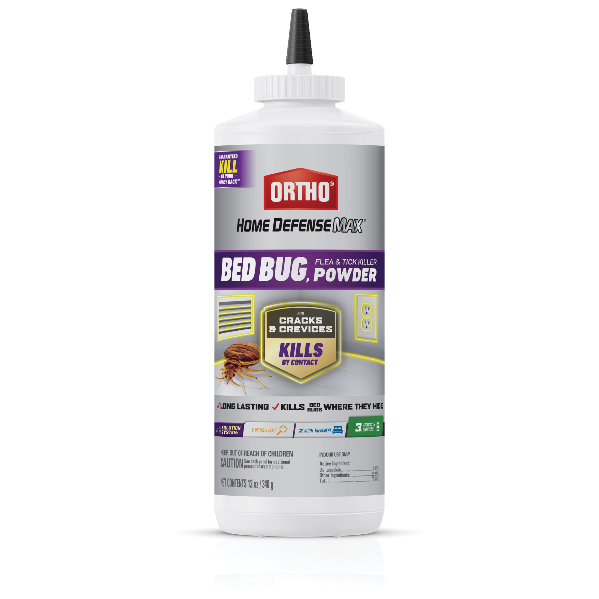 Ortho Home Defense Max Bed Bug Amp Flea Killer Powder 12 Oz Walmart Com Walmart Com