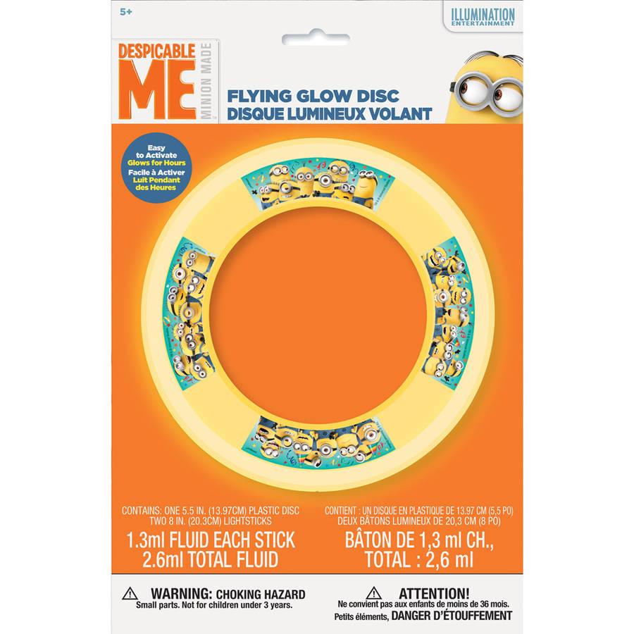 Despicable Me Minions Glow Flying Disc