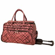 Jenni Chan Brush Strokes Soft Carry-All Duffel, Red