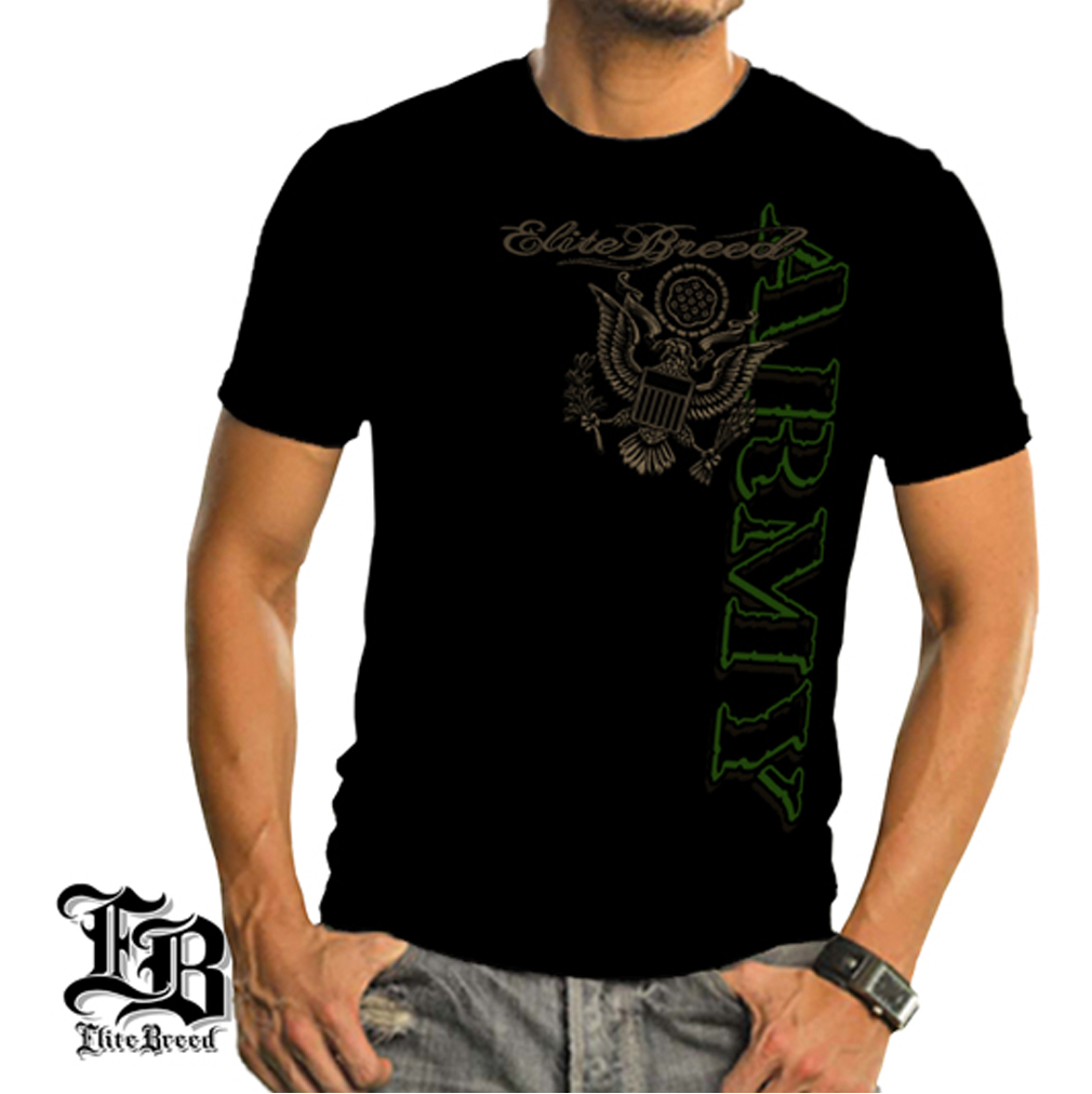 Cotton Elite Breed Army T-Shirt