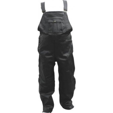 Men's Boy XS Size Chap Overalls Analine Cowhide Soft Leather With Antique Brass Hardware (Cowhide Leather Overalls)