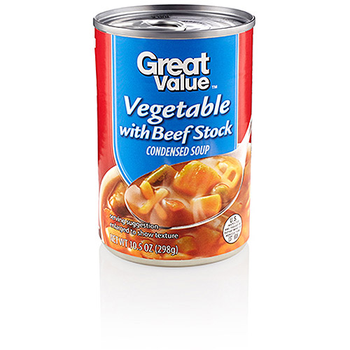 Great Value Vegtable With Beef Stock Condensed Soup, 10.5 oz