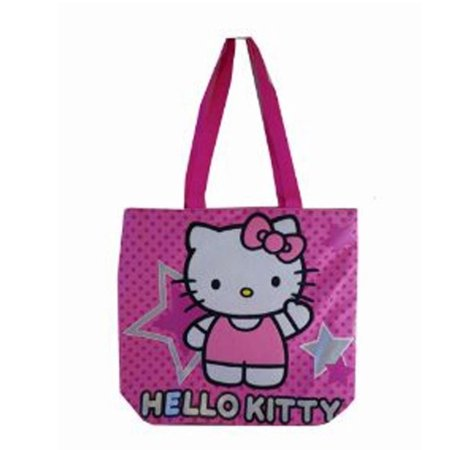 Sanrio's Hello Kitty Superstar Pink Polka Dotted Medium Size Tote (Superstar Bag)