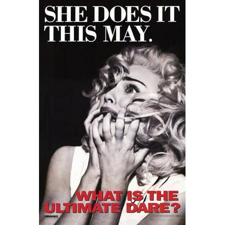Madonna Truth or Dare (1991) 11x17 Movie Poster - Destination Truth Halloween