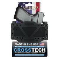 Limbsaver 12501 CrossTech Clip-On Universal Handgun Polymer Black