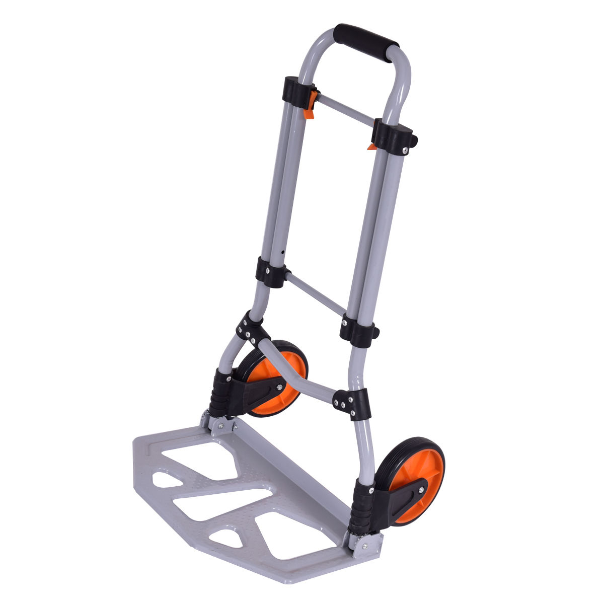 Costway Folding Dolly Hand Truck Cart Collapsible Push Trolley Luggage 150 LB Capacity by Costway