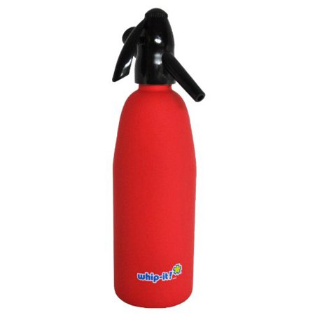 Whip-It SSSV-01 Soda Siphon, Rubber Coated, Red (Soda Siphon)