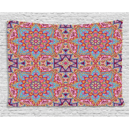 Purple Mandala Tapestry, Arabesque Hippie Style Authentic Eastern in ...