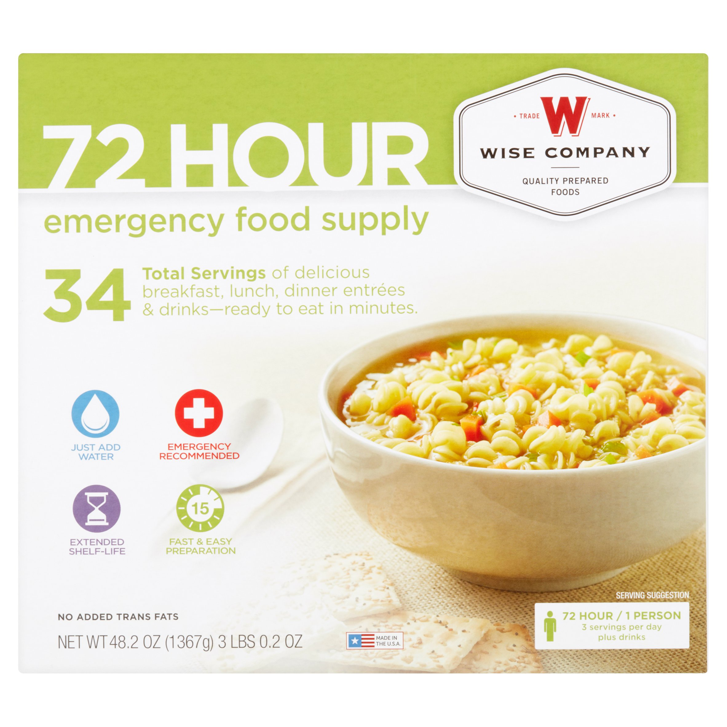 Wise Company 72 Hour Emergency Food Supply, 48.2 oz by Wise Company