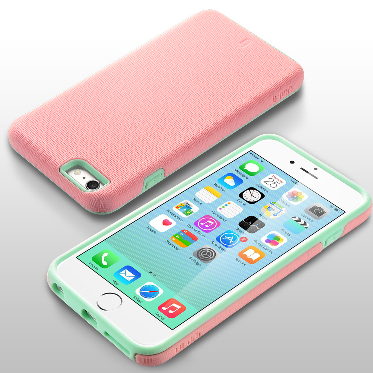 iPhone 6s Plus Case, iPhone 6 Plus Case, ULAK Slim Protective Shock Absorbent TPU Bumper Hard Cover for Apple iPhone 6 Plus /6s Plus 5.5'',Mint Green ...
