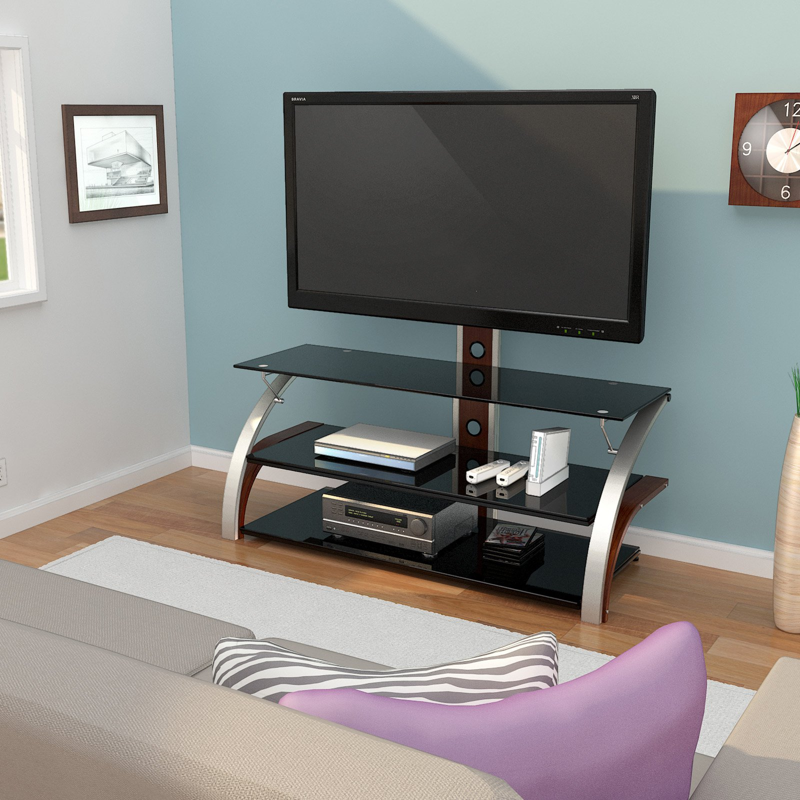Z Line Designs Spade 3 In 1 Tv Stand Wtih Mount For Tvs Up To 60