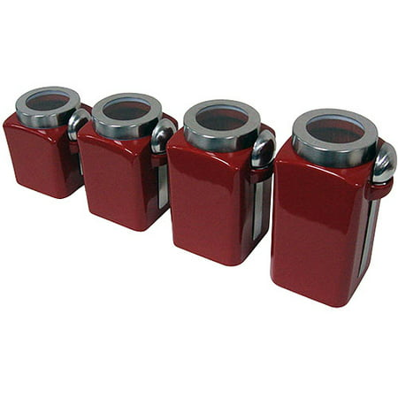 Small Kitchen Canister (Mainstays 4-Piece Canister Set, Crimson)