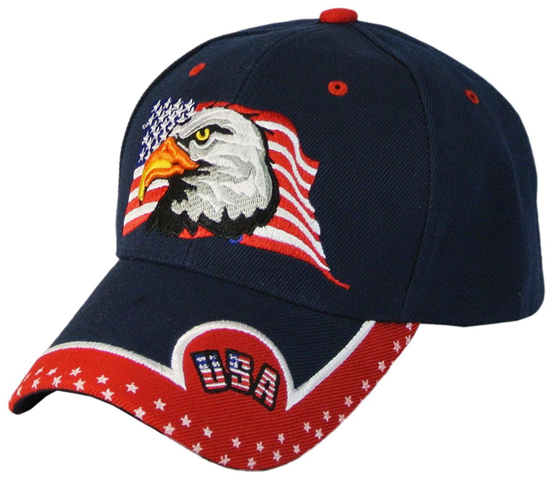 BALD EAGLE HAT plush ADULT cap animal NEW Costume American Patriot Symbol play