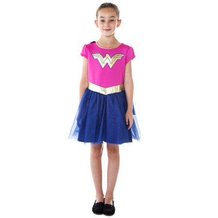 Girls Wonder Woman Dress Costume Cosplay Cape](Dc Raven Cosplay)