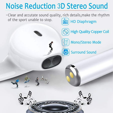 Bluetooth Headphones, Bluetooth 5.0 Earphones Wireless Headset w/ Charge Case Touch Control Earbuds for Android IOS - image 8 of 10