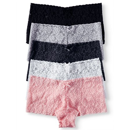 Juniors' 5-Pack Lace Cheeky Panty
