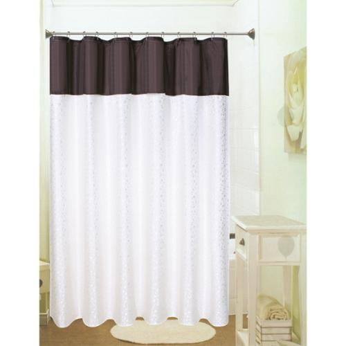 Sydney Jacquard Shower Curtain Chocolate/Beige
