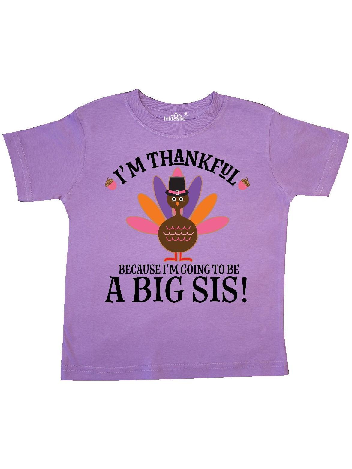 Thanksgiving Big Sis Announcement Turkey Toddler T-Shirt