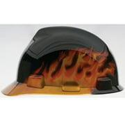 MSA 10124206 Hard Hat, Fas-Trac Suspension, Polycarbonate Shell, Black