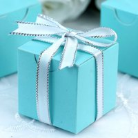 Efavormart 2x2x2 Favor Candy Box  for Candy Treat Gift Wrap Box Party Favor Boxes for Bridal Shower Anniverary Wedding Party-100pc