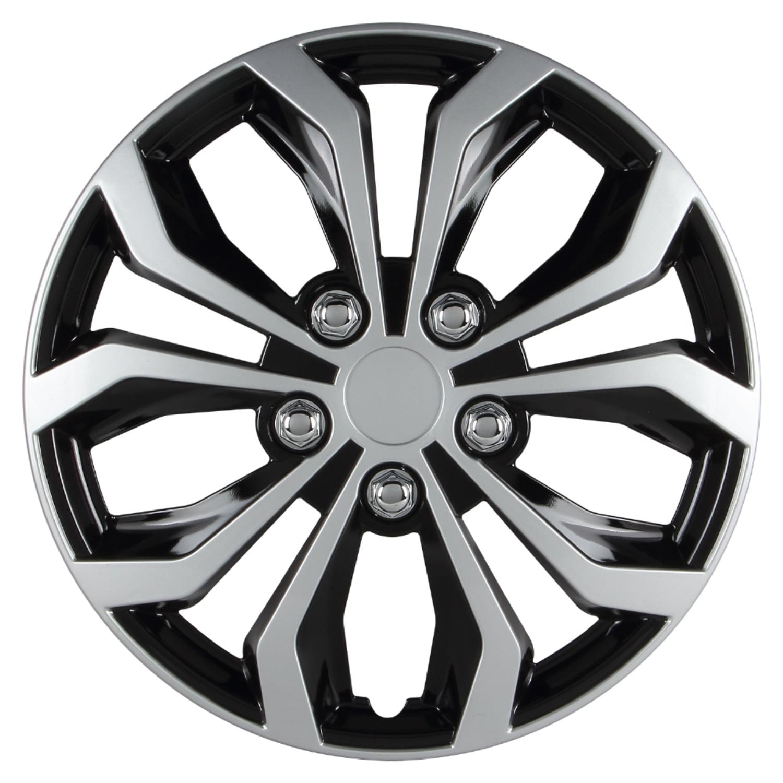 14 inch Hubcaps Spyder Performance Black Silver Wheel ...
