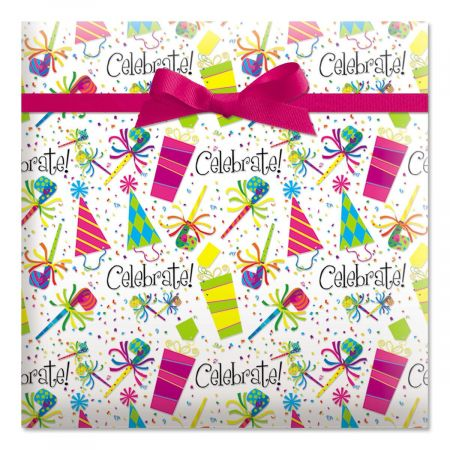 Celebrate Birthday Jumbo Rolled Gift Wrap - 72 sq. ft.
