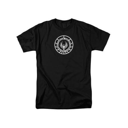Battlestar Galactica Costume (Battlestar Galactica BSG 75 Badge Costume Sci Fi TV Adult T-Shirt)
