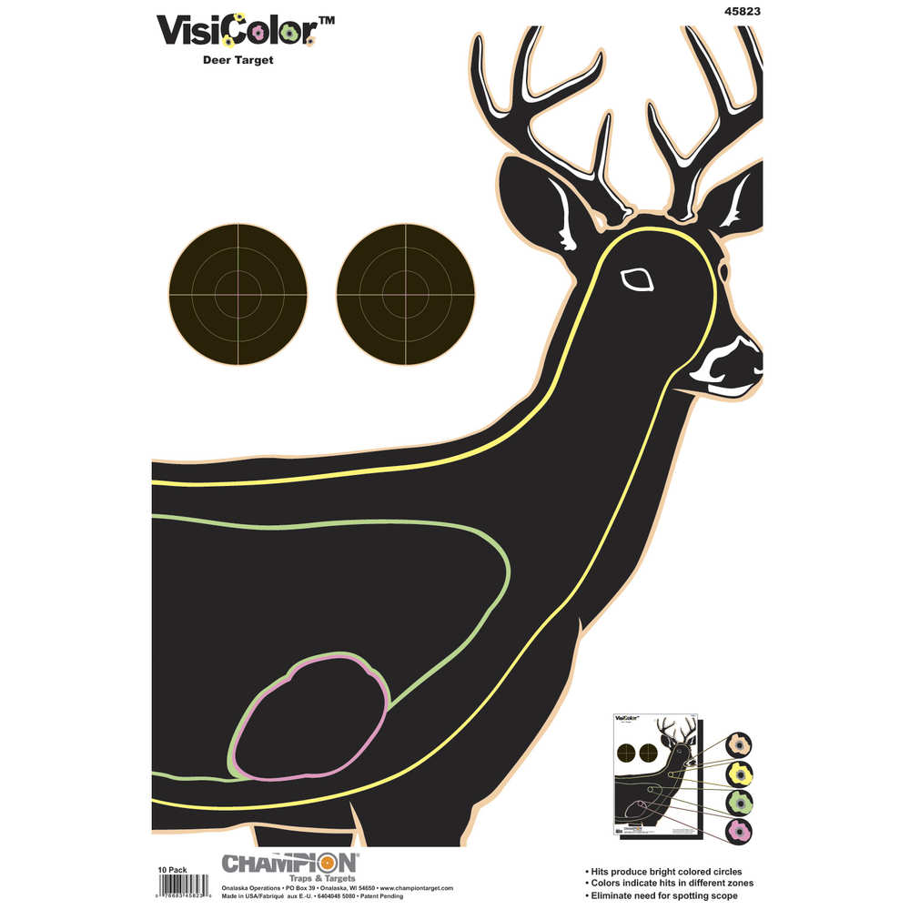 Champion VisiColor Targets, Deer, 10-Pack