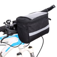 Bike Handlebar Bag Bike Basket Bicycle Front Storage Bag Pouch Insulated, with Reflective Stripe and Touchable Screen