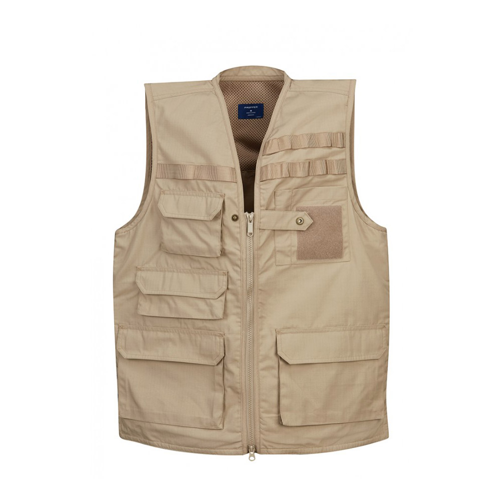Tactical Polyester Cotton Wrinkle Resistant Stain Liquid Repellent Vest