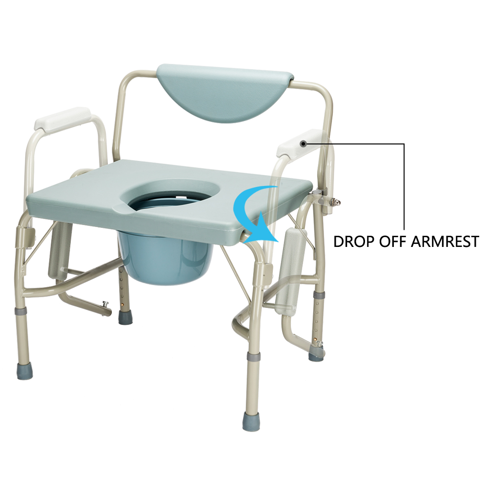 Zimtown 550 Lbs Heavy Duty Beside Commode Chair Toilet