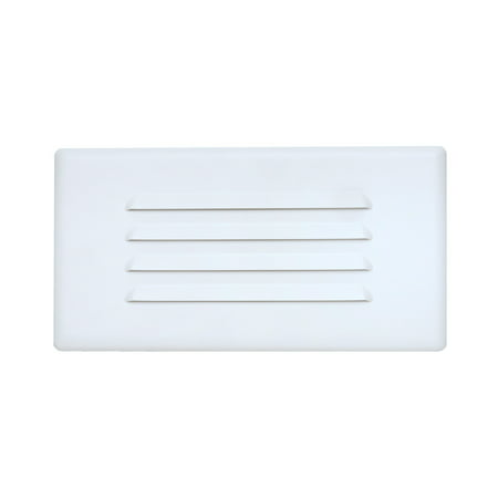 Nicor Lighting 10 Inch Louvered Recessed Step Faceplate Cover For 15803 Led Light 15811cover