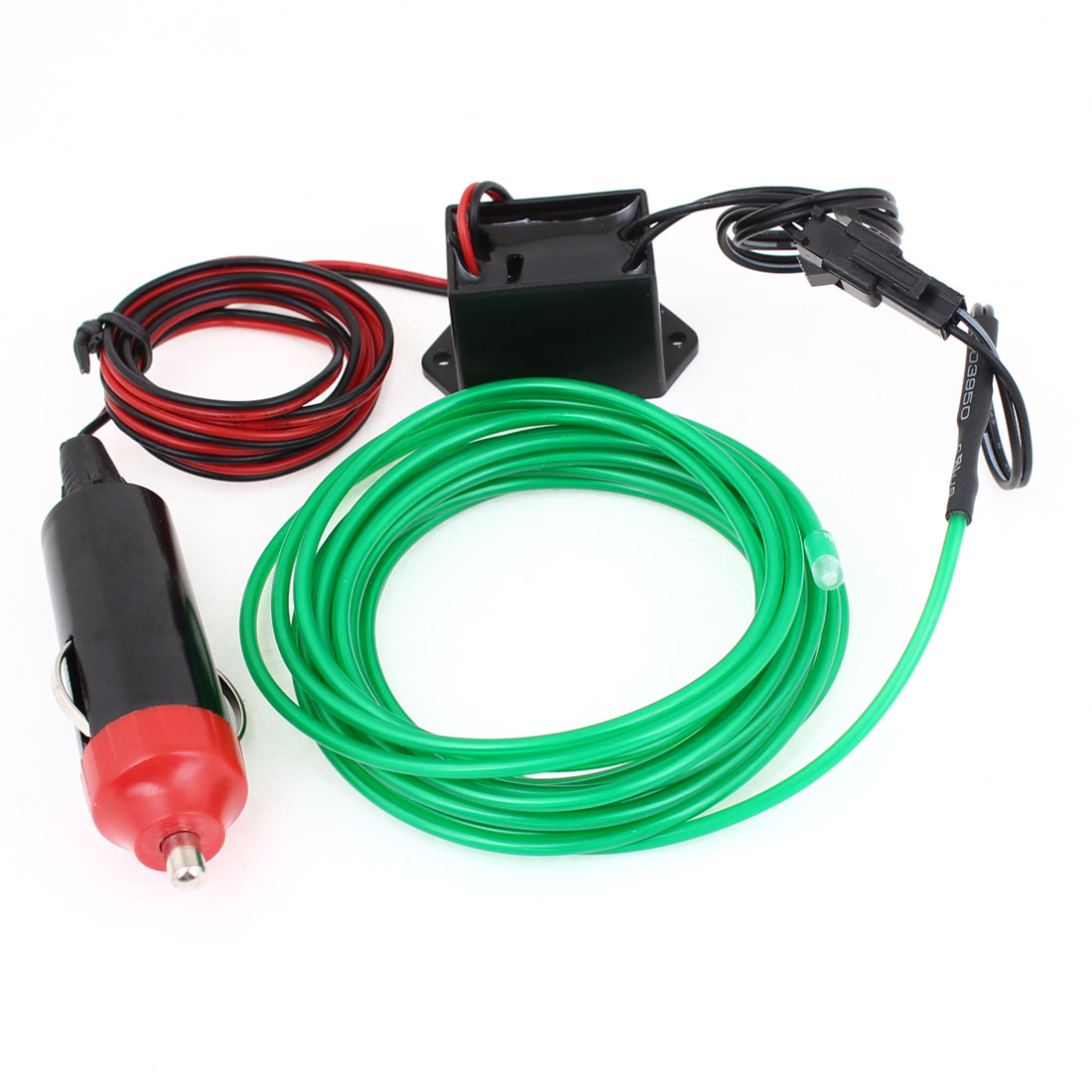 Unique Bargains 98ft El Wire Vehicle Truck Neon Green Glow Light W Wiring A 1m Car Charger