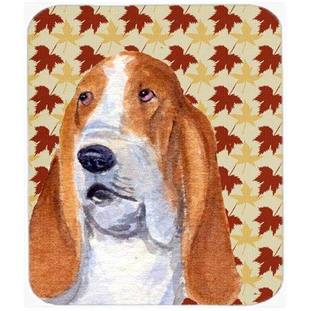 Carolines Treasures SS4328MP Bulldog English Fall Leaves Portrait Mouse Pad, Hot Pad Or Trivet - image 1 of 1
