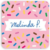 Sprinkle Pattern - Personalized 1.75 x 1.75 Square Seal Sticker
