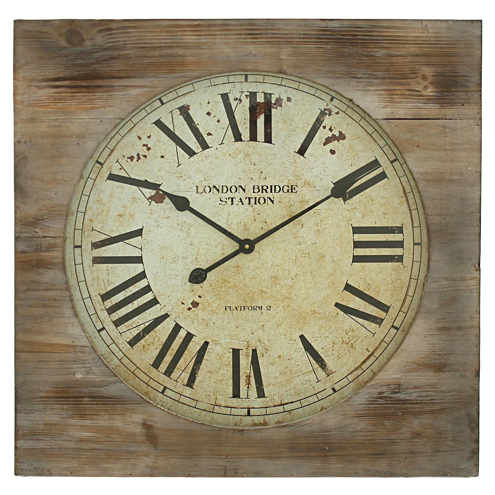Aspire home accents london bridge station square wall clock aspire home accents london bridge station square wall clock walmart amipublicfo Image collections